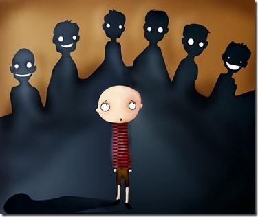 acoso escolar sombras